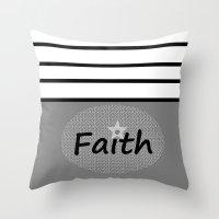 faith Throw Pillows featuring Faith by Jessielee