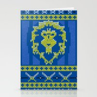 warcraft Stationery Cards featuring Ugly Sweater 1 by SlothgirlArt