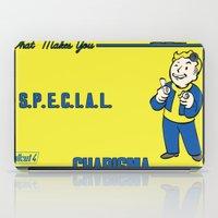 fallout iPad Cases featuring Charisma S.P.E.C.I.A.L. Fallout 4 by sgrunfo