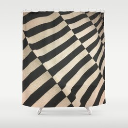 Parallel Zebra. Fashion Textures Shower Curtain