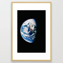 Earth Is The Most Powerful And Energetic Planet, Galaxy Background, Universe Large Print, Space Wall Framed Art Print