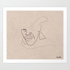 One Line Django Art Print
