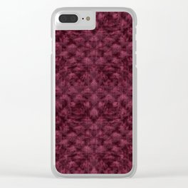 Quilted Maroon Velvety Pattern Clear iPhone Case