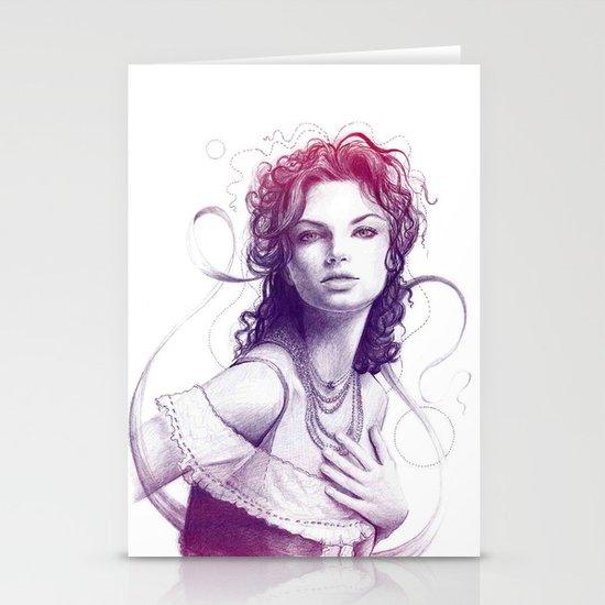 Beautiful Girl Portrait Stationery Cards