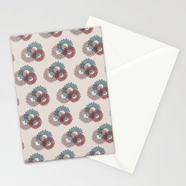 Flower Power surface pattern (blue-purple) Stationery Cards