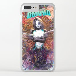 Domino Comic Art Collage Clear iPhone Case