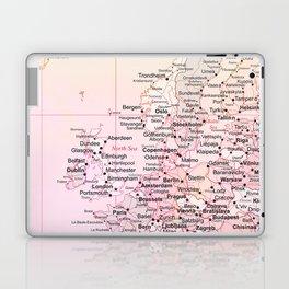 Rose Word Map Europe Laptop & iPad Skin