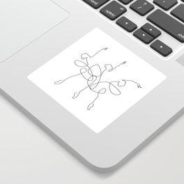 Ballet x 3 Sticker