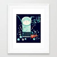 alien Framed Art Prints featuring Alien by Nayoun Kim