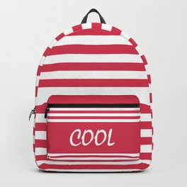 Red white striped Backpack