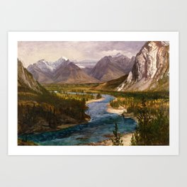 Bow River Falls, Canadian Rockies Art Print