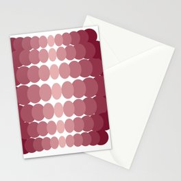 Pattern abstract geometric plum Stationery Cards