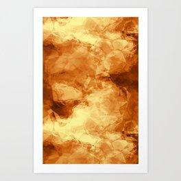 Rubbed Golden Copper Art Print