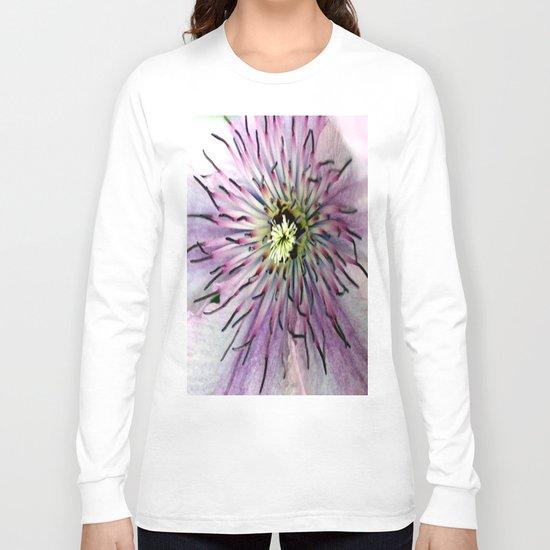 Clematis Heart Macro Long Sleeve T-shirt