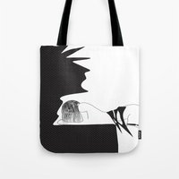 yoga Tote Bags featuring yoga by March Hunger