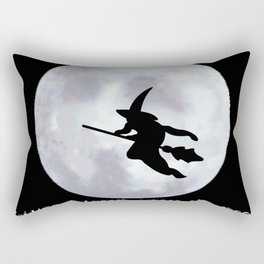 Witch, Witch Flying Across the Moon Rectangular Pillow