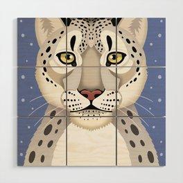 Snow Leopard Wood Wall Art
