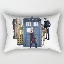 Doctor Who & Enemies Rectangular Pillow