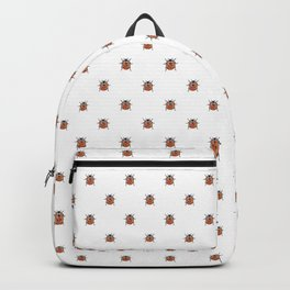 Lucky Ladybug Watercolor Print Pattern Backpack