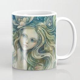 mermaid with Flowers in her hair Coffee Mug