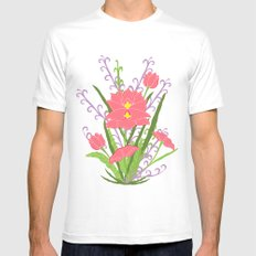 Indian Lotus Mens Fitted Tee White MEDIUM