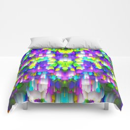 Colorful digital art splashing G392 Comforters
