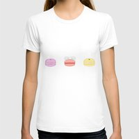 macarons T-shirts featuring Pastel Macarons by Crystal Chan