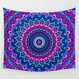 jewel tone mandala Wall Tapestry