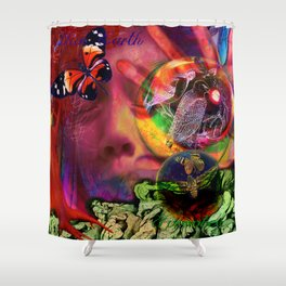 Blue Earth Uprooted Shower Curtain