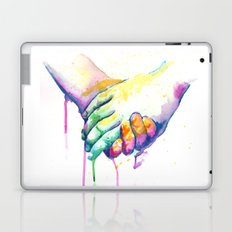 Holding Hands Laptop & iPad Skin
