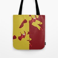daredevil Tote Bags featuring Daredevil by Young Jake