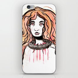 Silence Watercolor Painting by Grimmiechan iPhone Skin