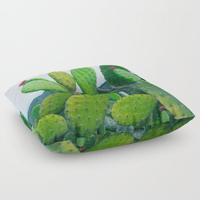 Blooming cacti Floor Pillow