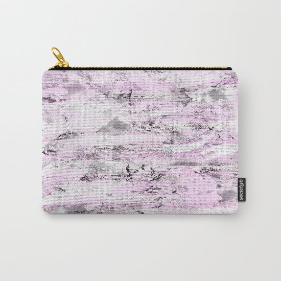 Pink and Grey Abstract Carry-All Pouch