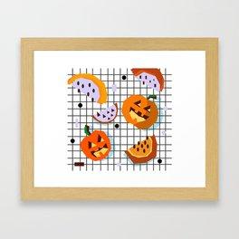 Happy Halloween Pumpkins Framed Art Print