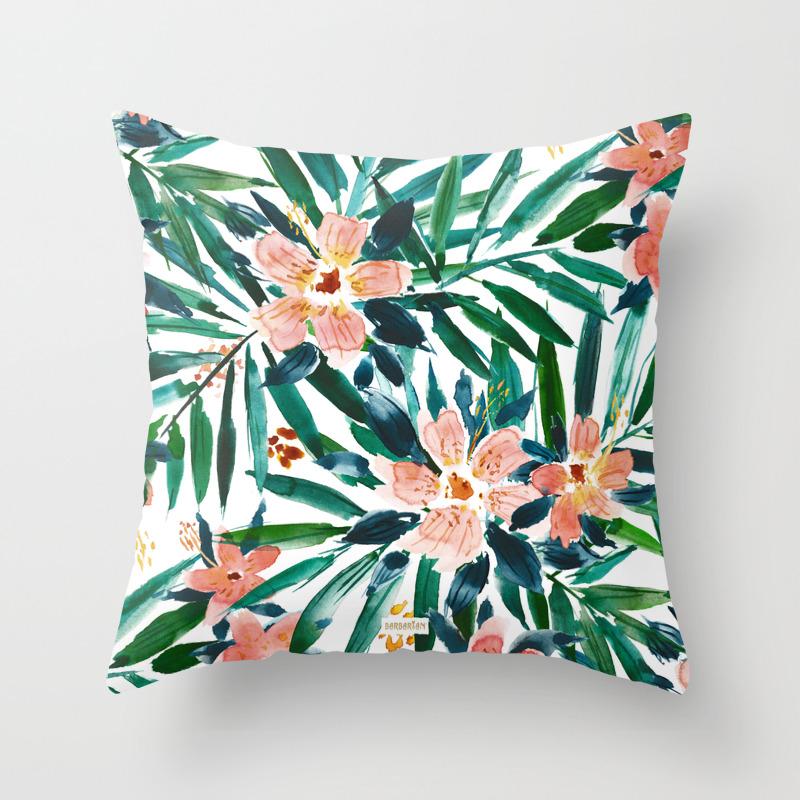 Vacay Everyday Tropical Throw Pillow By Barbraignatiev Society6