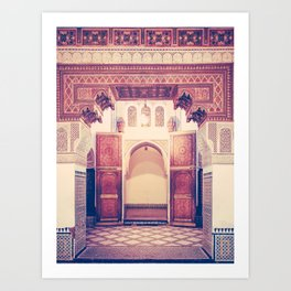 Moroccan Ornate Woodwork Doorway Fine Art Print Art Print