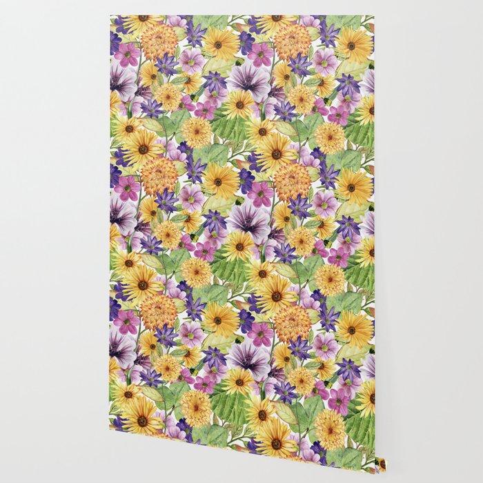 watercolor bouquet Wallpaper