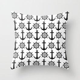 Anchors Aweigh 4 Throw Pillow