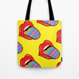 Lip popart pattern 2 Tote Bag