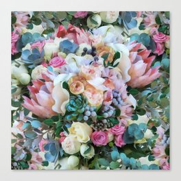 Romantic flowers II Canvas Print