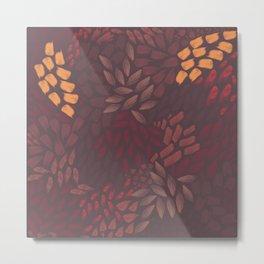 Petal Pattern in Autumn Grain Metal Print