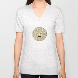 bocca della verita mouth of true statue legend Unisex V-Neck