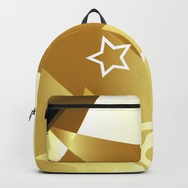Abstract golden background with stars Backpack