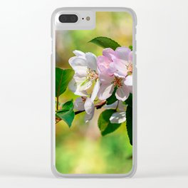 Cluster of pink crabapple flowers. Blooming beauty Clear iPhone Case
