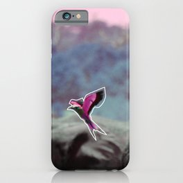 pink lilac breasted roller iPhone Case