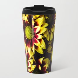Yellow and Pink Flower Bouquet Travel Mug