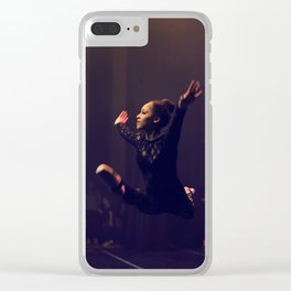 Leaping Olivia Clear iPhone Case