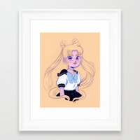 sailor moon Framed Art Prints featuring Sailor Moon by Natali Koromoto