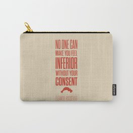 Lab No. 4 - Eleanor Roosevelt Typography Quotes Poster Carry-All Pouch